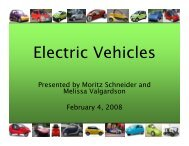 Electric Vehicles - Nordic Folkecenter for Renewable Energy