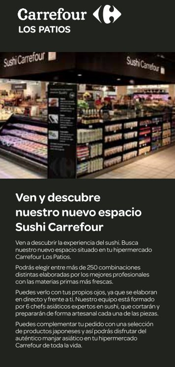 Ven y descubre nuestro nuevo espacio Sushi Carrefour