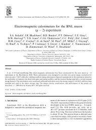 Electromagnetic calorimeters for the BNL muon ... - (g-2) Home Page