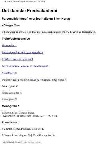 Terp, Holger - Det danske Fredsakademi