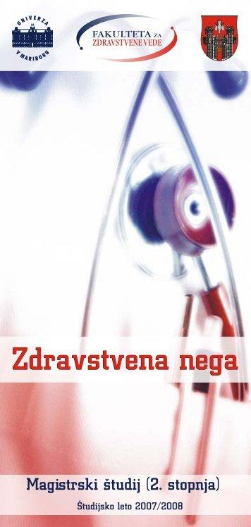Zdravstvena nega magistrski studij 07-08 (006).cdr - Fakulteta za ...