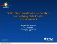 SSDs as a Catalyst for Evolving Data Center Requirements
