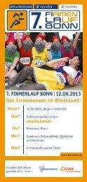Flyer Firmenlauf Bonn 2013 - 7. Firmenlauf Bonn