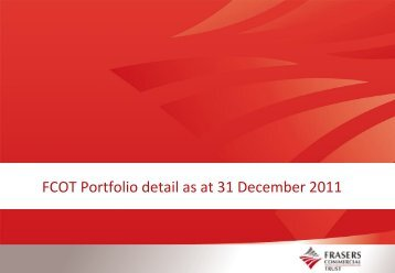 FCOT Portfolio detail as at 31 December 2011 - Fraser and Neave ...