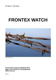 FRONTEX WATCH Projekt Beschreibung - Freirad