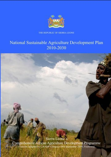 National Sustainable Agriculture Development Plan (NSADP) - GAFSP