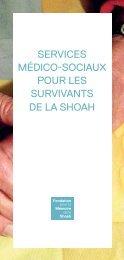 Télécharger la brochure - Fondation pour la Mémoire de la Shoah