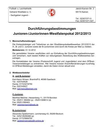 Durchführungsbestimmungen - Fußball und Leichtathletik Verband ...