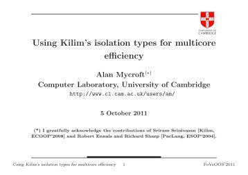 Using Kilim's isolation types for multicore efficiency