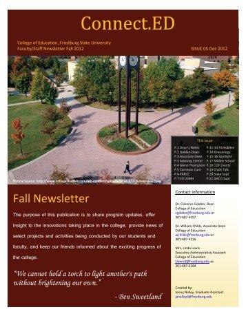 Connect.ED Newsletter - Frostburg State University