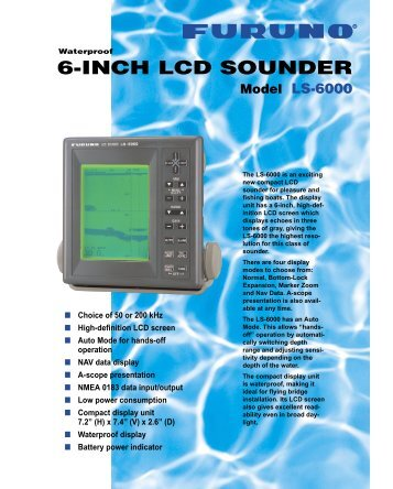 Furuno Lcd Sounder Ls6000 Manual Treadmill