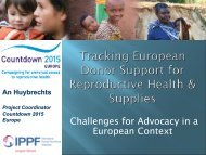 Challenges for Advocacy in a European - International Conference ...