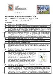 Protokoll GV März 2013 - Gesellschaft der Weltall-Philatelisten, CH