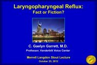 Laryngopharyngeal Reflux: - Greater Baltimore Medical Center