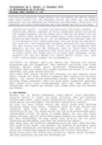 06.12 Jakobus 5, 7+8 2. Advent (PDF