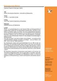 Programm Weimar 2009 - forum unna