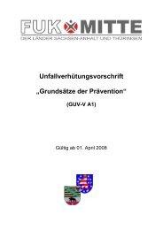 GUV-V A1 - Grundsätze der Prävention ... - FUK-Mitte
