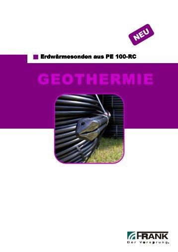 Flyer Erdwärmesonden PE 100-RC - AGRU-FRANK GmbH
