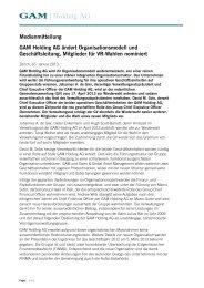 Pressemitteilung herunterladen - Swiss & Global - Homepage