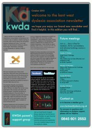 For the KWDA October Newsletter, please click here - Fosse Bank ...