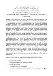 RE-IMAGINING GENDER AND POLITICS - Frankfurt Research ...