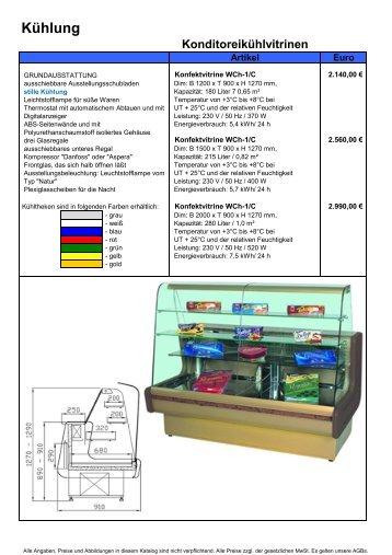 Konditoreikühlvitrinen - Gastro Concept