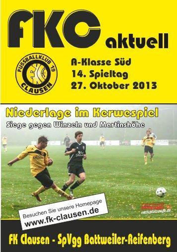 FKC Aktuell - 14. Spieltag 2013/2014