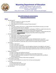 AYP FAQ July 2011 - Wyoming Department of Education