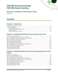 FAS 500 Fixed Assets Installation & Administration Guide, v ... - Sage