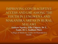 improving contraceptive access and use among the youth in ...