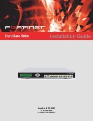 FortiGate-500A - Fortinet Technical Documentation