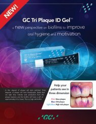 GC Tri Plaque ID Gel™ oral hygiene and motivation - GC America