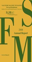 2 annual report int 2008 xp - Fondazione Salvatore Maugeri