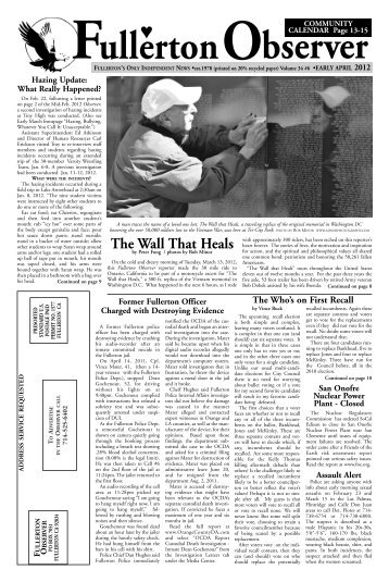 The Wall That Heals - Fullerton Observer