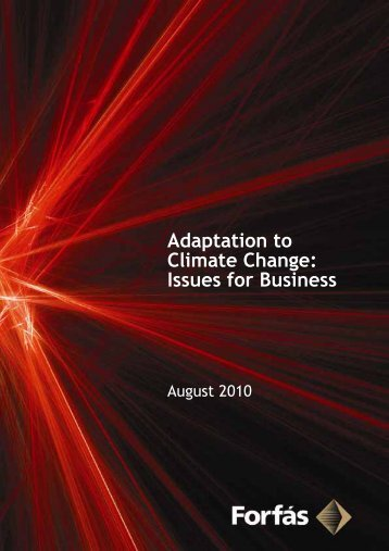 Adaptation to Climate Change: Issues for Business