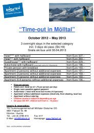 """""""Time-out in Mölltal"""" October 2012 – May 2013"""