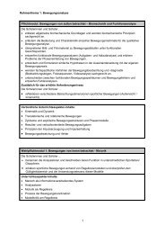 Rahmenthema 1: Bewegungsanalyse Pflichtmodul: Bewegungen ...