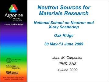 Argonne PowerPoint Presentation - Spallation Neutron Source