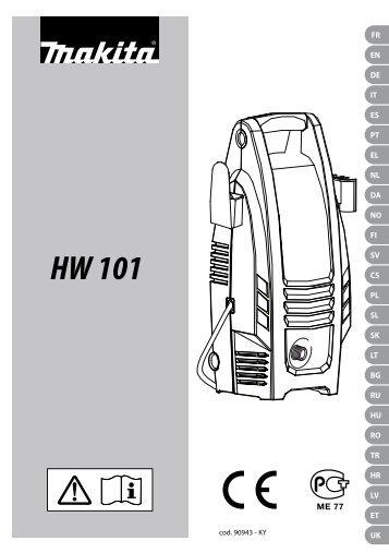 Návod k použití Vysokotlaký čistič MAKITA HW101
