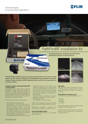 PathFindIR™ installation kit - Flir Systems