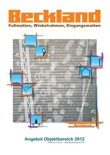 Angebot Objektbereich 2012 - Beckland-Erzeugnisse GmbH & Co. KG