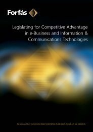 Legislating for Competitive Advantage in E-business and ... - Forfás