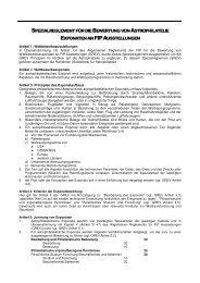 noch das SREV für Astrophilatelie-Reglement von - Gesellschaft der ...