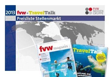 Stellenmarkt Preisliste 2013 - FVW Mediengruppe