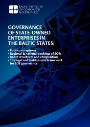 GOVERNANCE OF STATE-OWNED ENTERPRISES IN THE BALTIC ...