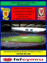 Scotland v Wales - Football Supporters' Federation