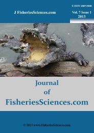 ALL Contents in PDF File, Click Vol. 7 Issue 1 - FisheriesSciences.com