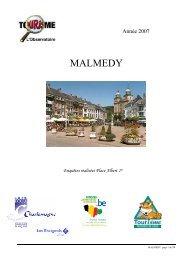 MALMEDY - Fédération du Tourisme de la Province de Liège