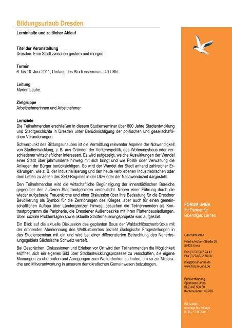 Programm Dresden 2011 - Forum Unna
