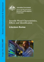 Juvenile Wood Characteristics, Effects and Identification Literature ...